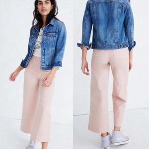 Madewell Emmett Cropped Pant in Oyster Pink 27